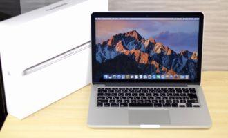 MacBook Pro買取ました!Retina 13-inch Late 2013 ME866J/A,実際の買取金額が高いのはオンラインMac買取ストア!