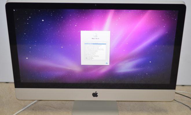iMac買取ました!27-inch Late 2009 MB952J/A 壊れたiMac買取!みんなやってる!わざわざお店に行く必要なし! 自宅から楽々!かんたん全国送料無料宅配買取