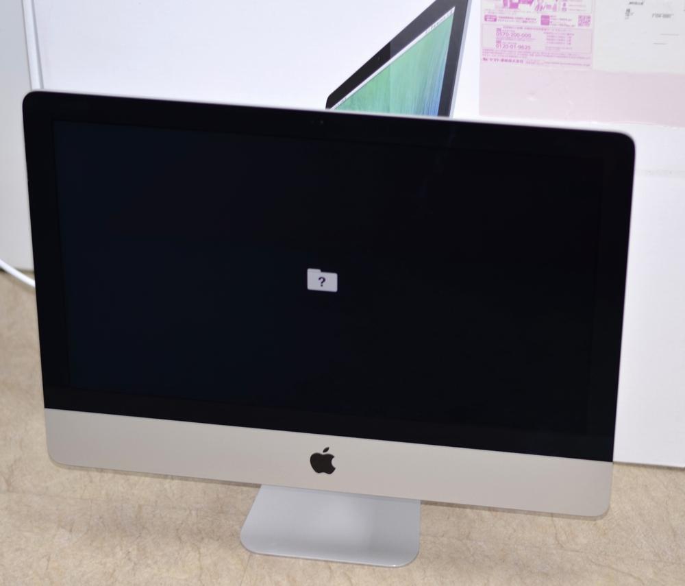 壊れたiMac 21.5-inch買取ました!Late 2013 ME086J/A Core i5,専門店だからできる! 故障・壊れたMac買取ます!他店圧倒高額買取保証