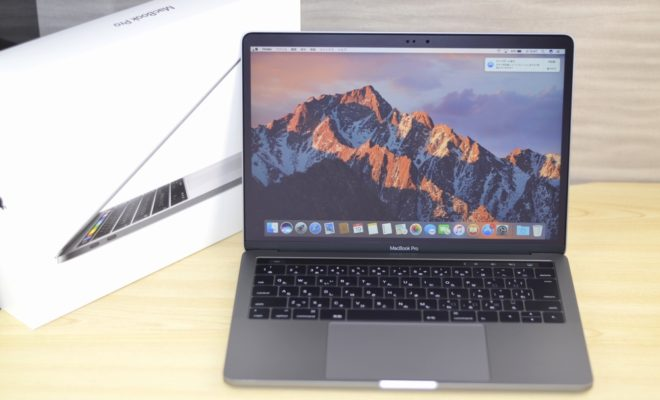 MacBook Pro買取ました!CTO 13-inch Late 2016, 4 TBT3 Touch Bar Core i7