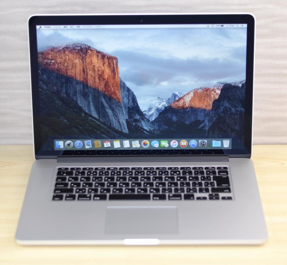 MacBook Pro買取ました!Retina,15-inch,Late 2013 Core i7 16GB 512GB SSD,Macの買取は、オンラインMac買取ストアにお任せください!